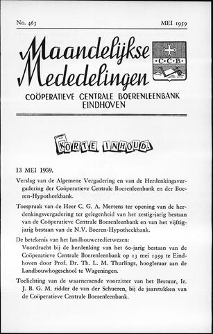 blad 'Maandelijkse Mededelingen' (CCB) 1959-05-01