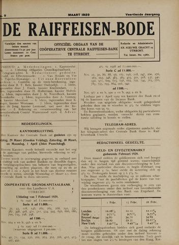 blad 'De Raiffeisen-bode' (CCRB) 1929-03-01
