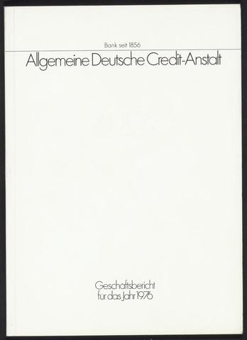 Geschäftsberichte Allgemeine Deutsche Credit-Anstalt / ADCA Bank 1976-01-01