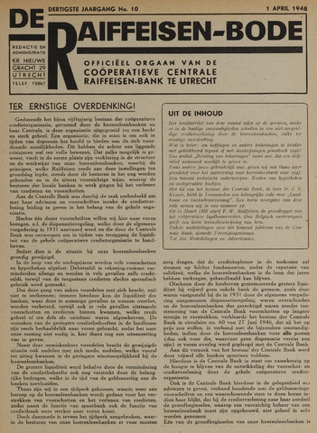 blad 'De Raiffeisen-bode' (CCRB) 1948-04-01