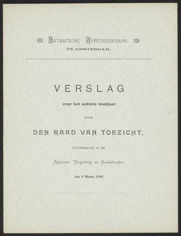 Jaarverslagen Bataafsche Hypotheekbank 1897
