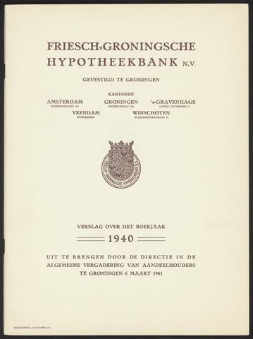 Jaarverslagen Friesch-Groningsche Hypotheekbank / FGH Bank 1940