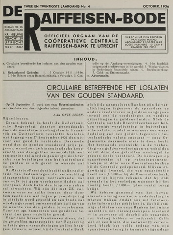 blad 'De Raiffeisen-bode' (CCRB) 1936-10-01
