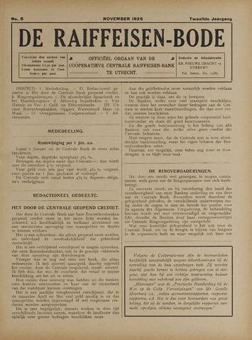 blad 'De Raiffeisen-bode' (CCRB) 1926-11-01