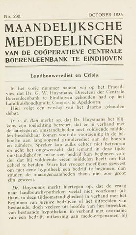 blad 'Maandelijkse Mededelingen' (CCB) 1935-10-01