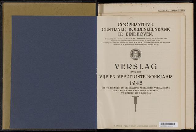 Jaarverslagen Coöperatieve Centrale Boerenleenbank 1943-12-31
