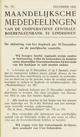 blad 'Maandelijkse Mededelingen' (CCB) 1932-12-01