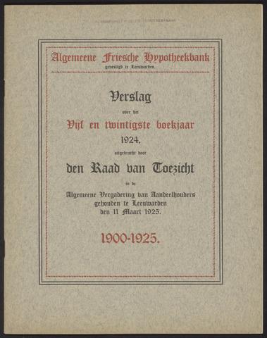 Jaarverslagen Algemeene Friesche Hypotheekbank 1924