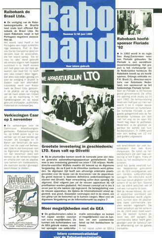 blad 'Raboband' 1989-06-30