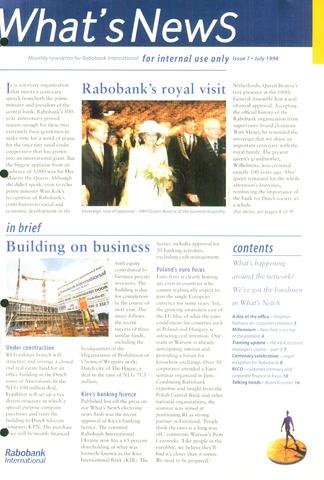 blad 'What's news' (EN) 1998-07-01
