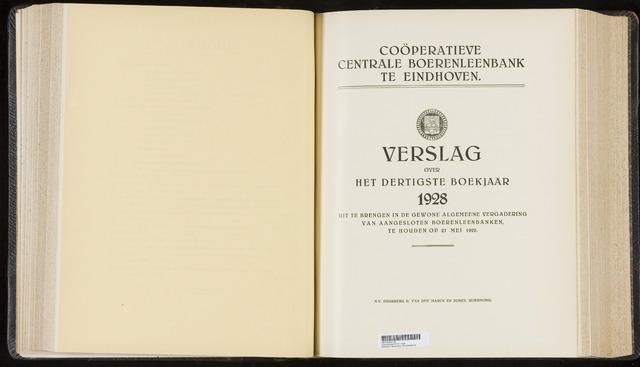 Jaarverslagen Coöperatieve Centrale Boerenleenbank 1928-12-31