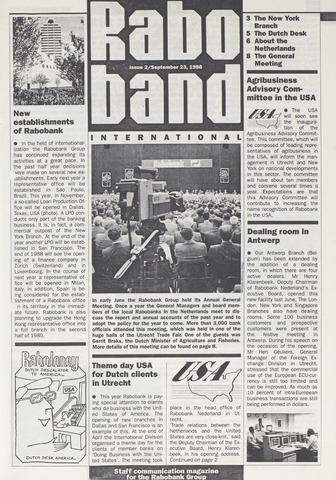 blad 'Raboband International' (EN) 1988-09-23