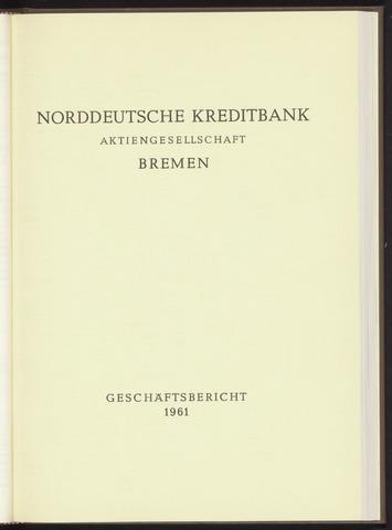 Geschäftsberichte Norddeutsche Kreditbank 1961-01-01