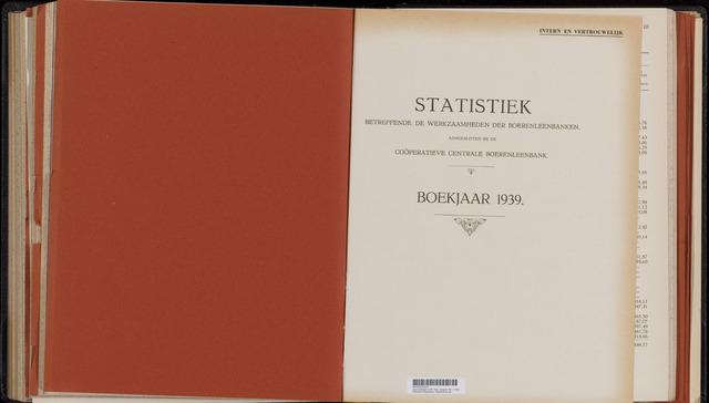 Statistiek aangesloten banken CCB 1939-12-31