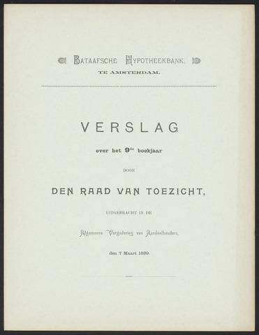Jaarverslagen Bataafsche Hypotheekbank 1898