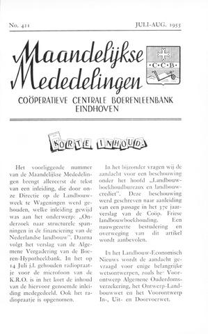 blad 'Maandelijkse Mededelingen' (CCB) 1955-07-01