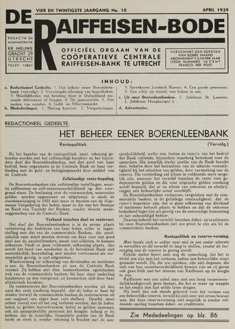 blad 'De Raiffeisen-bode' (CCRB) 1939-04-01