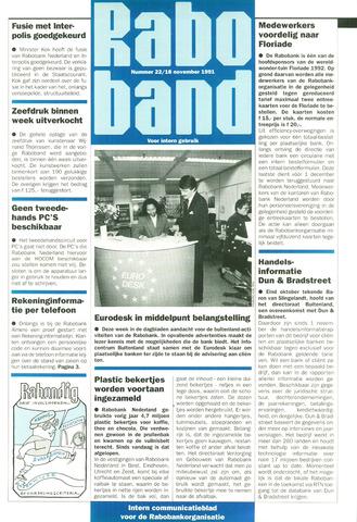 blad 'Raboband' 1991-11-18