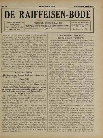 blad 'De Raiffeisen-bode' (CCRB) 1928-08-01