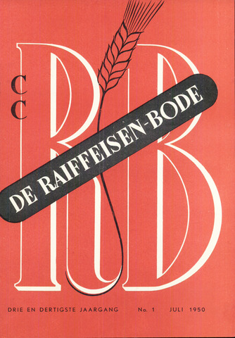blad 'De Raiffeisen-bode' (CCRB) 1950-07-01