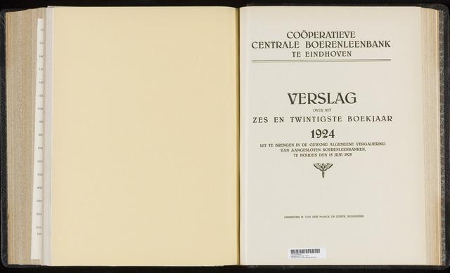Jaarverslagen Coöperatieve Centrale Boerenleenbank 1924-12-31
