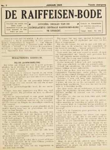 blad 'De Raiffeisen-bode' (CCRB) 1925