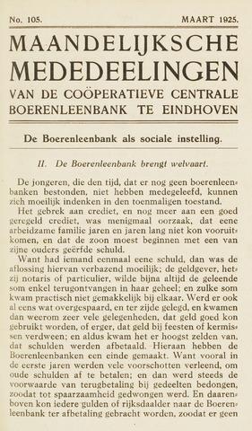 blad 'Maandelijkse Mededelingen' (CCB) 1925-03-01