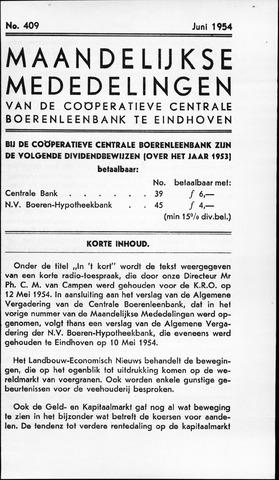 blad 'Maandelijkse Mededelingen' (CCB) 1954-06-01