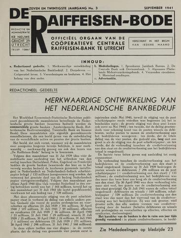 blad 'De Raiffeisen-bode' (CCRB) 1941-09-01