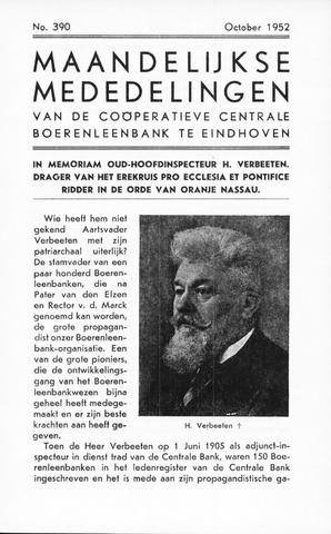 blad 'Maandelijkse Mededelingen' (CCB) 1952-10-01