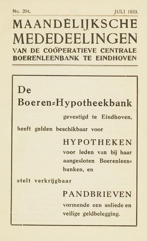blad 'Maandelijkse Mededelingen' (CCB) 1933-07-01