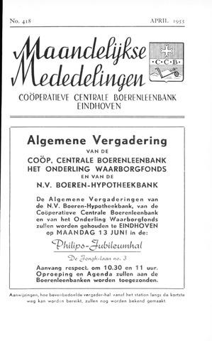 blad 'Maandelijkse Mededelingen' (CCB) 1955-04-01
