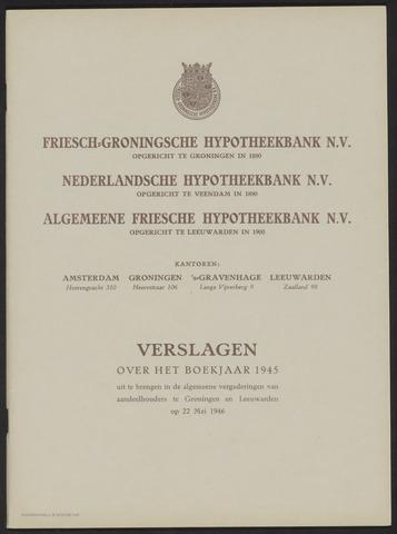 Jaarverslagen Friesch-Groningsche Hypotheekbank / FGH Bank 1945