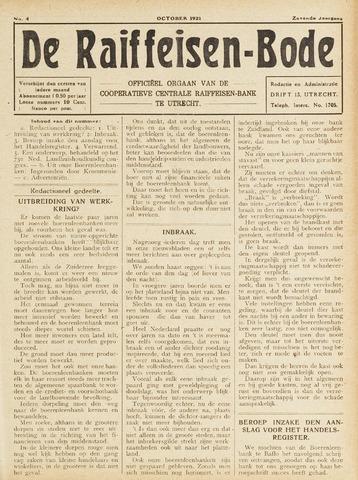 blad 'De Raiffeisen-bode' (CCRB) 1921-10-01