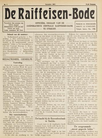 blad 'De Raiffeisen-bode' (CCRB) 1917-09-01