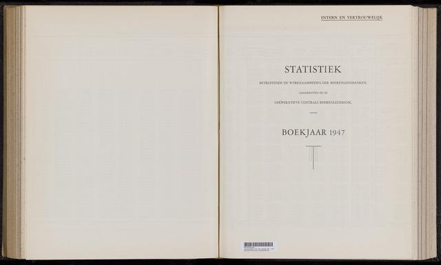 Statistiek aangesloten banken CCB 1947