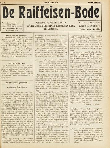 blad 'De Raiffeisen-bode' (CCRB) 1921-02-01