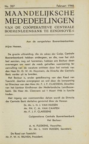 blad 'Maandelijkse Mededelingen' (CCB) 1946-02-01