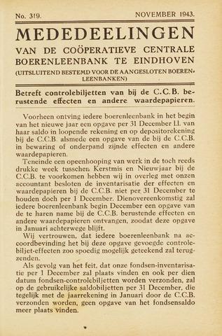 blad 'Maandelijkse Mededelingen' (CCB) 1943-11-01