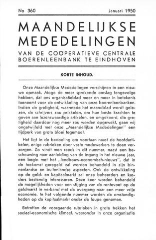 blad 'Maandelijkse Mededelingen' (CCB) 1950-01-01