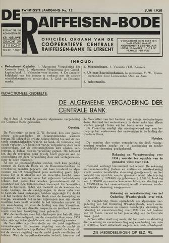blad 'De Raiffeisen-bode' (CCRB) 1935-06-01
