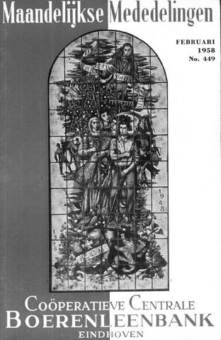 blad 'Maandelijkse Mededelingen' (CCB) 1958-02-01