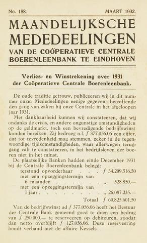 blad 'Maandelijkse Mededelingen' (CCB) 1932-03-01