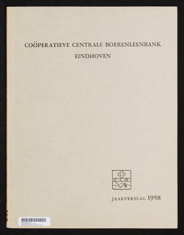 Jaarverslagen Coöperatieve Centrale Boerenleenbank 1958-12-31