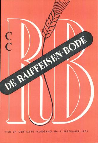 blad 'De Raiffeisen-bode' (CCRB) 1951-09-01