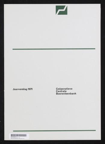 Jaarverslagen Coöperatieve Centrale Boerenleenbank 1971-12-31