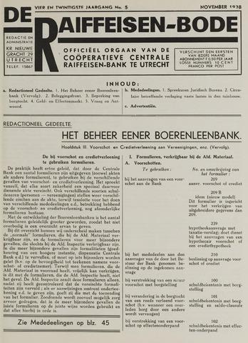 blad 'De Raiffeisen-bode' (CCRB) 1938-11-01