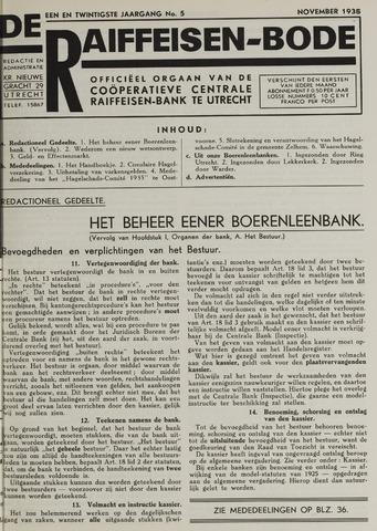 blad 'De Raiffeisen-bode' (CCRB) 1935-11-01