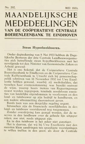 blad 'Maandelijkse Mededelingen' (CCB) 1933-05-01