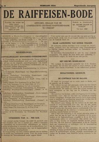 blad 'De Raiffeisen-bode' (CCRB) 1934-02-01